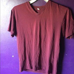 UNIQLO Small Maroon V-Neck Shirt